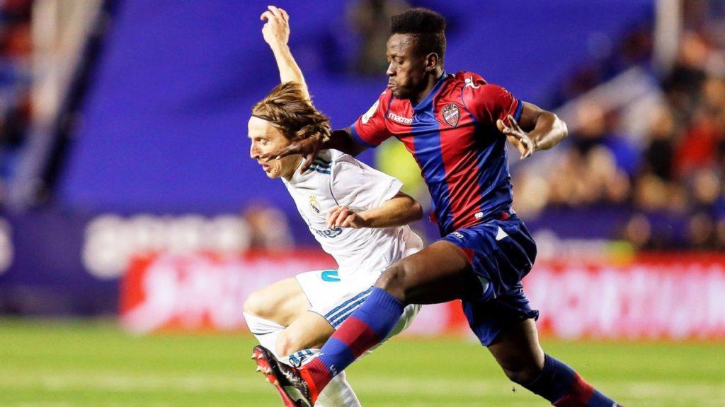"Ghana forward Emmanuel Boateng hails Levante\'s ""great win"" over Real Madrid"