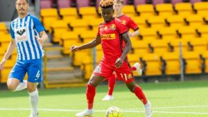 VIDEO: Ghanaian forward Godsway Donyoh excited to score hat-trick for FC Nordsjælland on return from injury