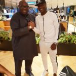 PHOTOS: Ghana captain Asamoah Gyan meets Nigerian politician Dele Momodou and Nollywood star RMD at Istanbul airport