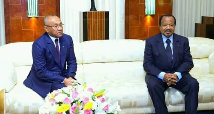 Photos: Caf President meets Cameroon leader Paul Biya in historic visit