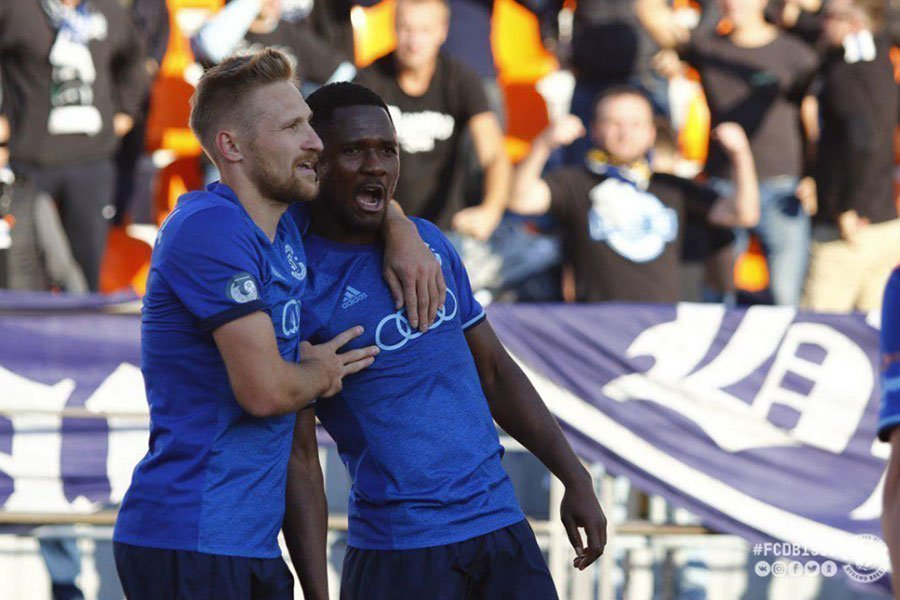 Joel Fameyeh makes it Two in Two as Dinamo Brest dispatch Dnepr in Belarusian top-flight league