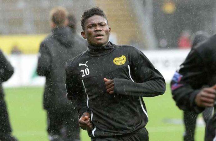 Ghanaian footballer Kwame Bonsu returns to action after serving jail time in Sweden