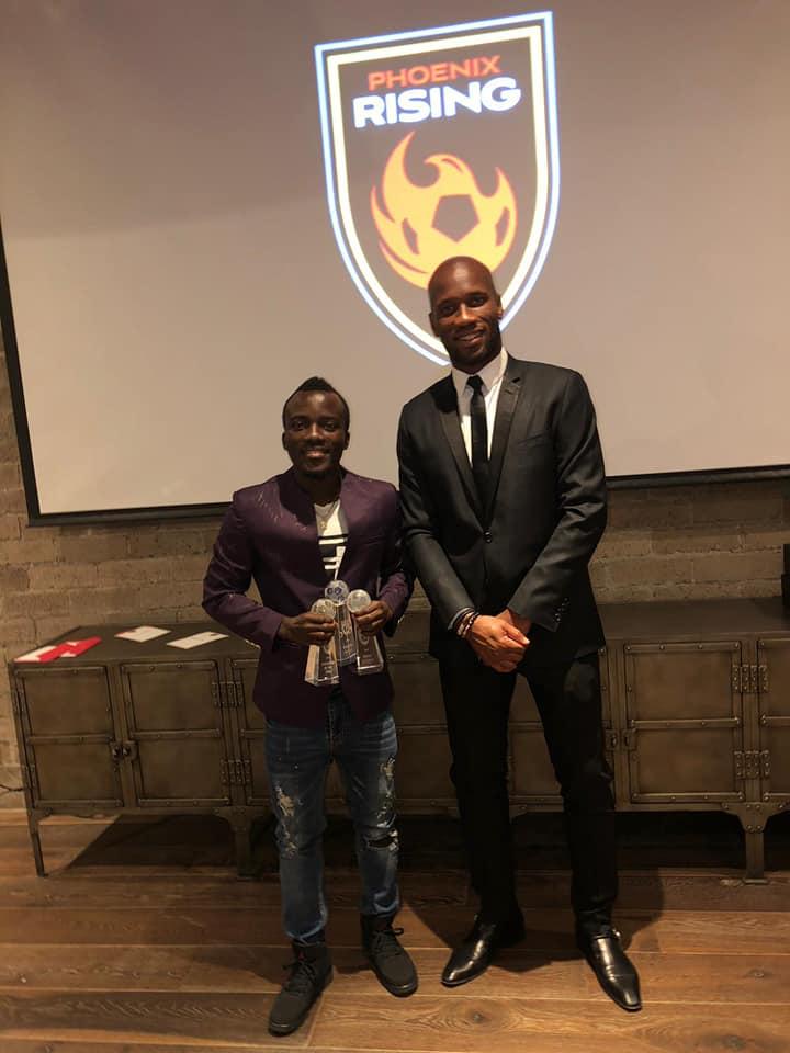 Solomon Asante swoops three awards at Phoenix Rising in night
