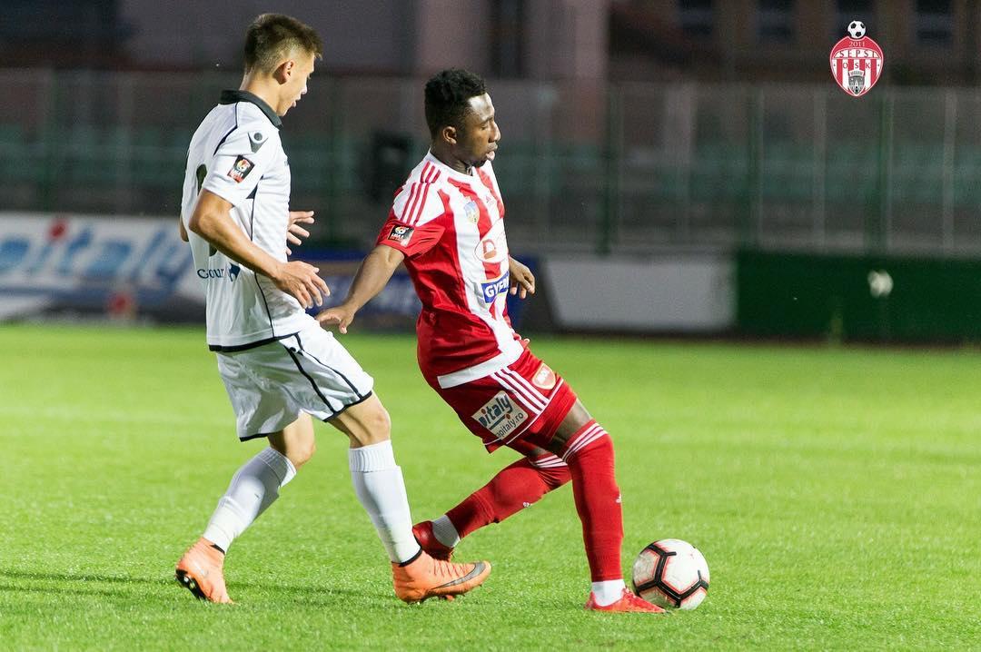 Joseph Mensah scores for Sepsi in shock win over Steaua Bucuresti in Romania