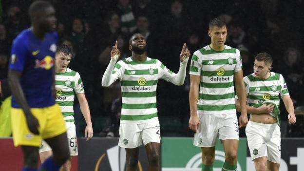 Celtic 2-1 RB Leipzig: Edouard strike earns victory and keeps Europa League knockout hopes alive