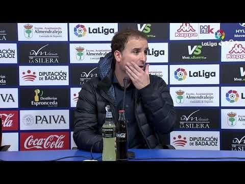 Rueda de prensa de Jagoba Arrasate tras el Extremadura UD vs CA Osasuna (2-3)