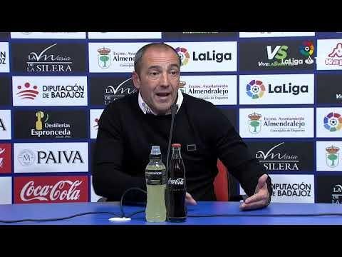 Rueda de prensa de Juan Sabas tras el Extremadura UD vs CA Osasuna (2-3)