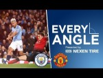 SERGIO SCREAMER IN THE DERBY | Every Angle | Aguero vs Man Utd