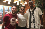 Lionel Messi and Paul Pogba chat at Salt Bae's restaurant in Dubai