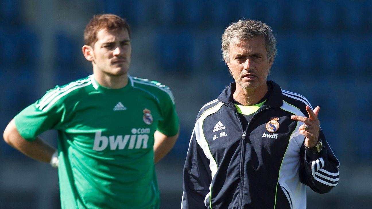 Image result for casillas and mourinho