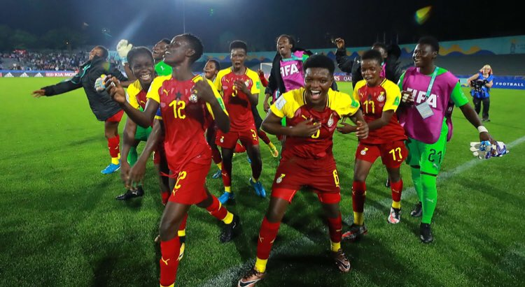 WATCH VIDEO: FIFA General Secretary Fatma Samoura celebrates with Black Maidens after victory over Uruguay