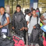 PHOTOS: Black Maidens arrive after World Cup exit