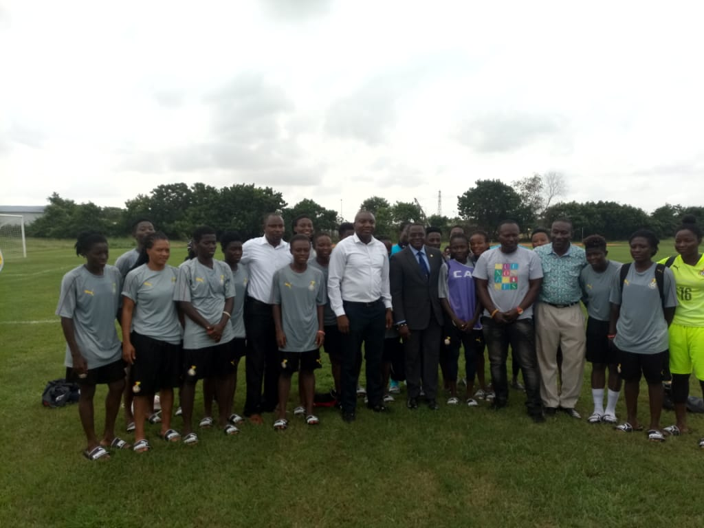PHOTOS: Ghana Olympic Committee (GOC) donates to Black Queens ahead 2018 AWCON opener