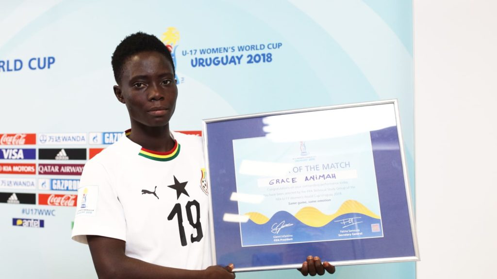 FIFA U-17 WWC: Grace Animah credits teammates for Player of the Match award