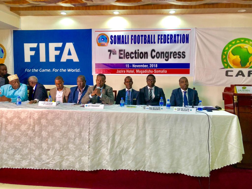 Abdiqani re-elected unpposed as Somalia FA boss