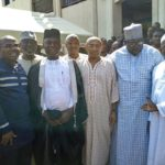 PHOTOS: CAF President Ahmad Ahmad mobbed together with Nyantakyi at mosque in Ghana