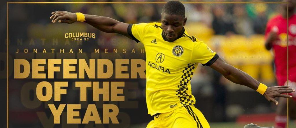 Ghana ace Jonathan Mensah voted Columbus Crew Defender of the Year