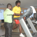 Asante Kotoko forward Yacouba back in the gym as he steps up recovery