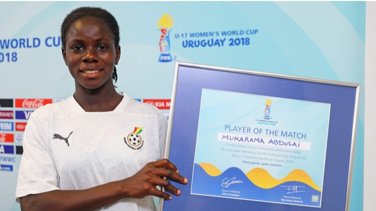 'Diva' Mukarama Abdulai wins second straight Player of the Match award at FIFA U17 Women;s World Cup