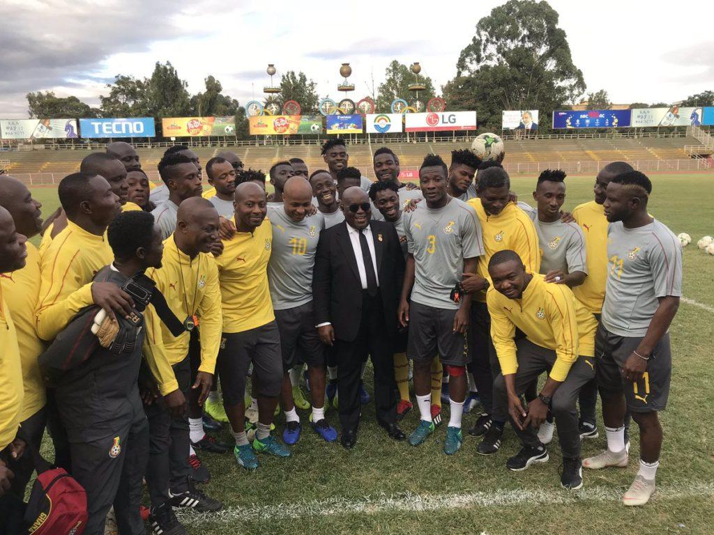 PHOTOS: President Akufo-Addo visits Black Stars in Ethiopia
