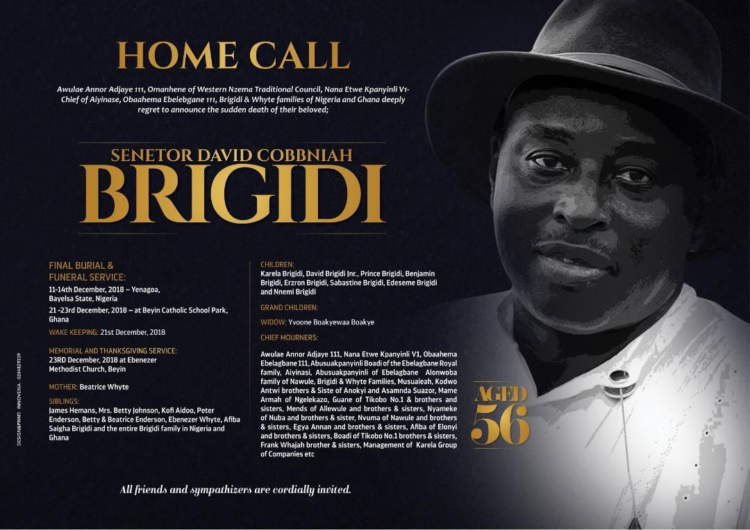 Fallen Karela United owner David Cobbina Siagha Brigidi to be buried in Nigeria on Dec 14