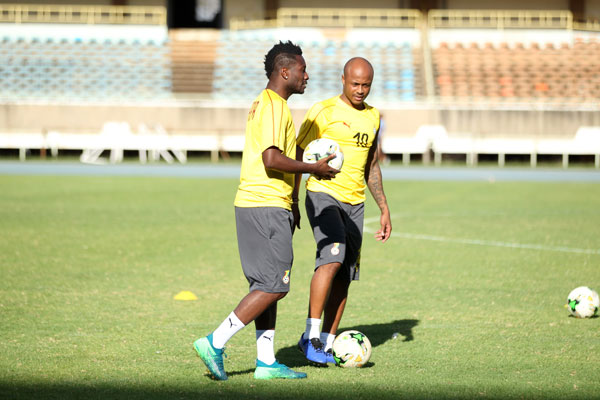 AFCON 2019 qualifier: Andre Ayew leads Black Stars players in camp in Asamoah Gyan's absence