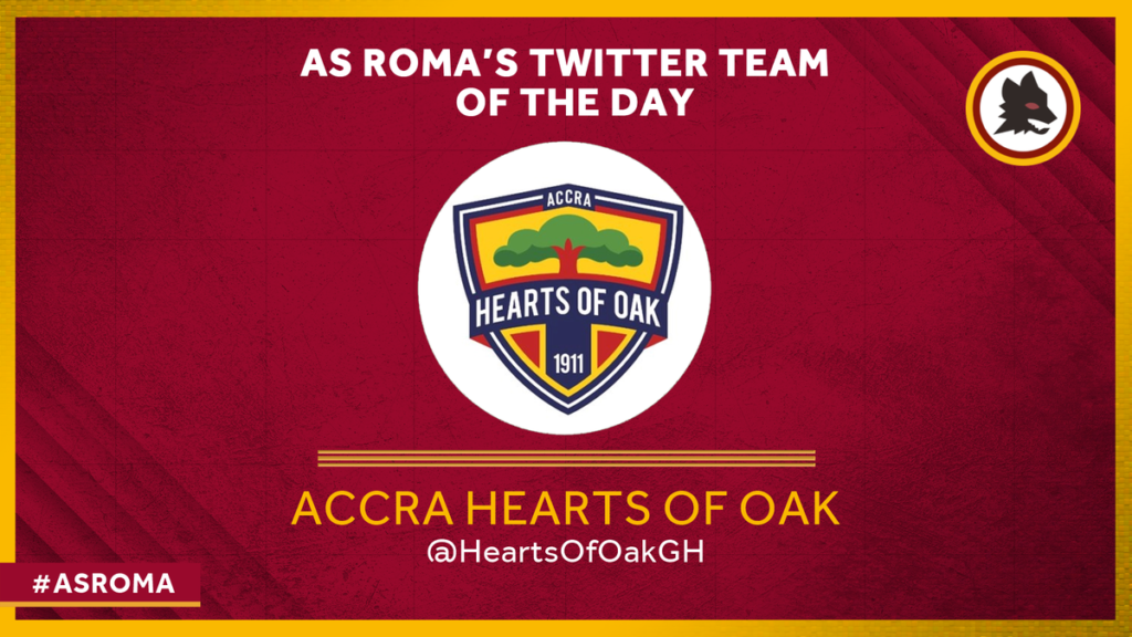 Italian Serie A giants AS Roma name Accra Hearts of Oak 'Team of the Day'