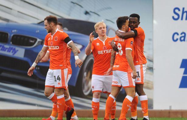 VIDEO: Watch Joe Dodoo\'s sublime over-head kick for Blackpool in Checkatrade Trophy victory over Accrington Stanley