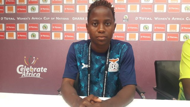 AWCON 2018: We are here for the trophy- Zambia midfielder Mary Mwakapila