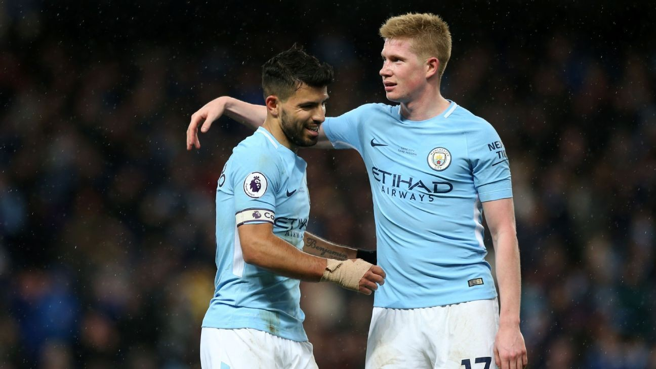 Manchester City's Sergio Aguero And Kevin De Bruyne To