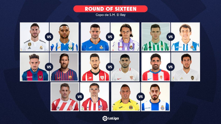 The Round of 16 draw for the Copa del Rey