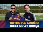 Arthur and Brazilian singer Felipe Araújo meet up in Barcelona