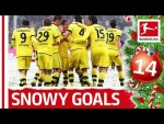 Top 10 Goals in Snowy Conditions - Bundesliga Advent Calendar 14
