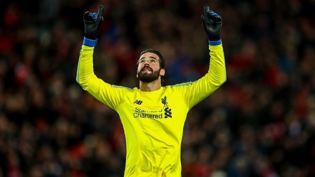 4f84e5d70 Liverpool goalkeeper Alisson usurps De Gea as Premier League s No. 1 ...
