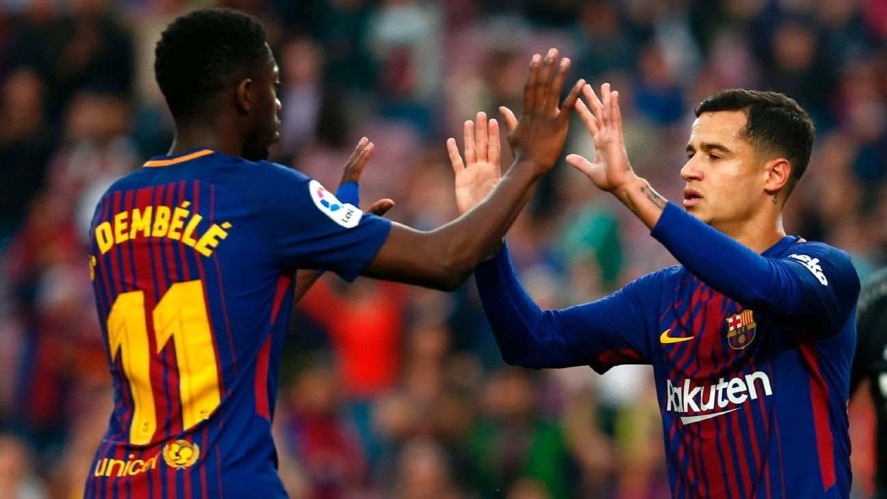 Image result for dembele and coutinho