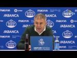 Rueda de prensa de Lucas Alcaraz tras el RC Deportivo vs Real Zaragoza (3-1)