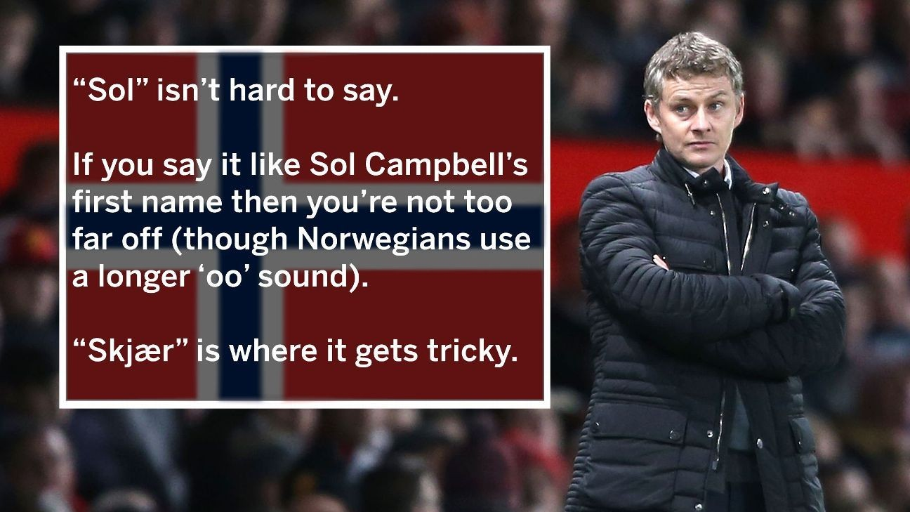 Ole Gunnar Solskjaer: How to pronounce Manchester United