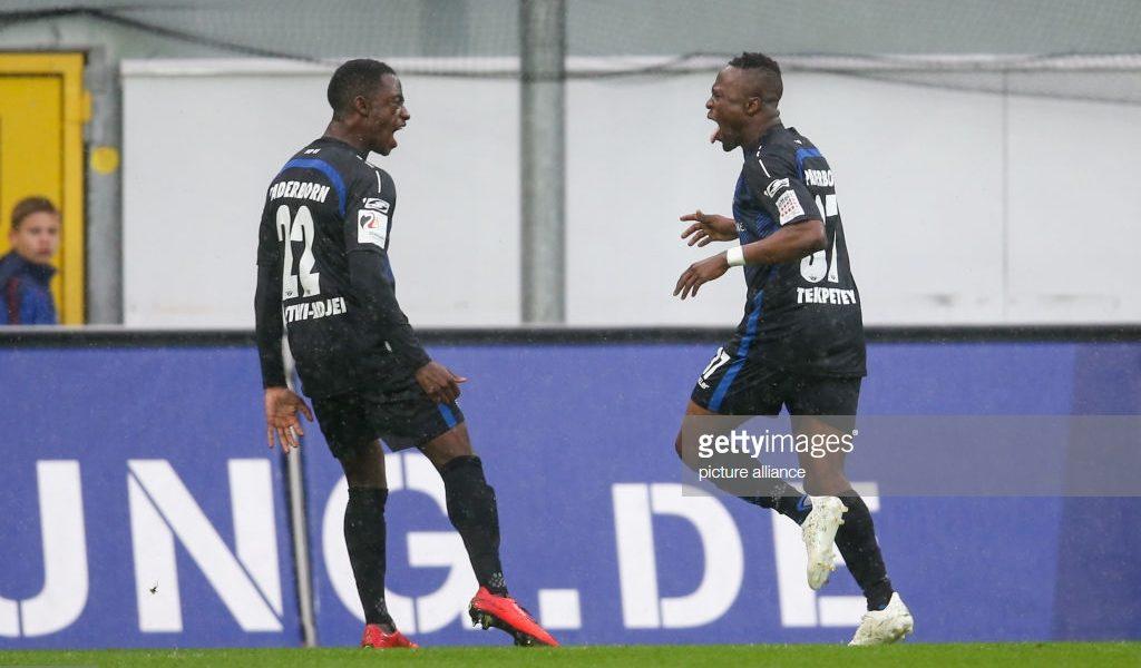 Ghanaian striker Bernard Tekpetey bags his 10th goal as SC Paderborn beat FC Koln