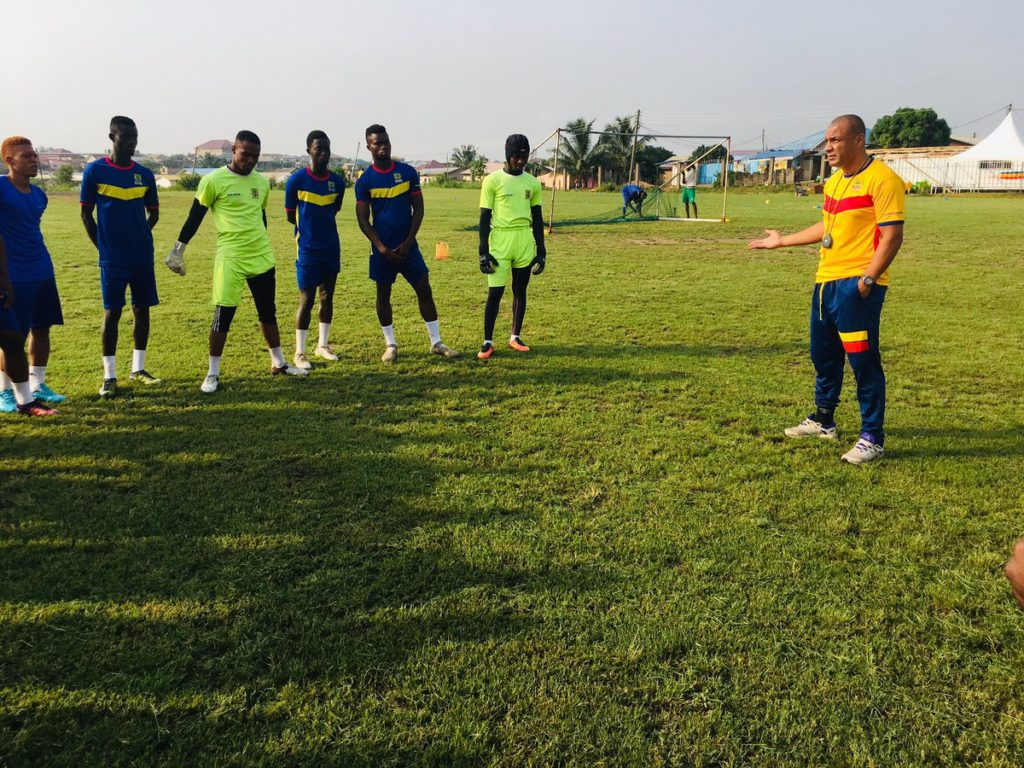 Video: Kim Grant takes charge of first Hearts of Oak training as manager