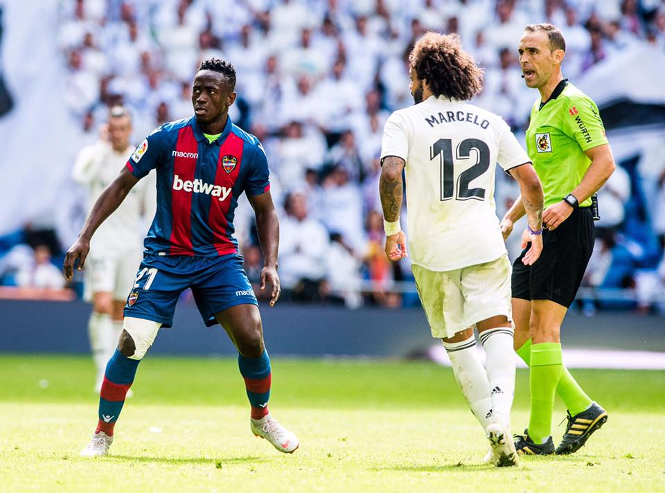 Emmanuel Boateng amongst 12 other players to have scored in La Liga for Levante