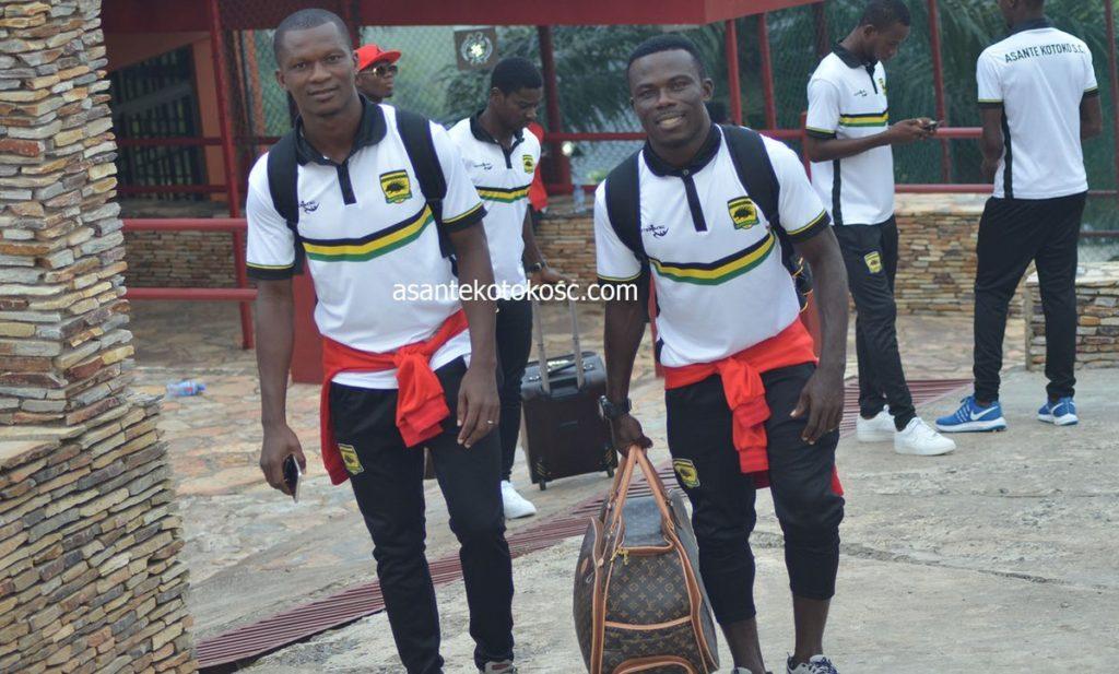 PHOTOS: Asante Kotoko leave for Kariobangi Sharks clash in CAF CC