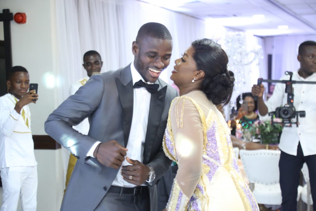 PHOTOS: Columbus Crew star Jonathan Mensah's 'moderate' wedding with Kafui Tinaglafo in Accra