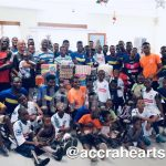 Hearts of Oak party with patients of Orthopedic Training Centre