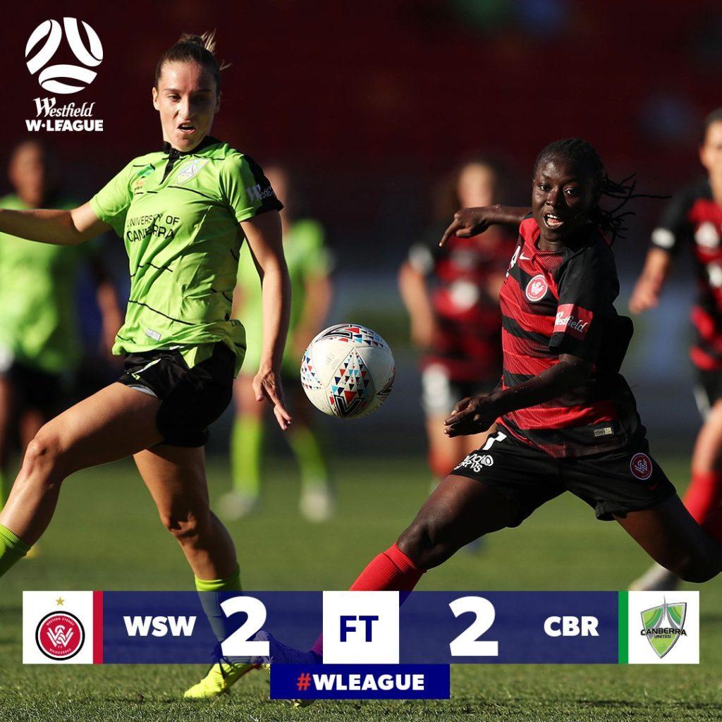 VIDEO: Black Queens captain Elizabeth Addo produces 'dazzling' assist for Western Sydney Wanderers in W-League draw