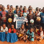 VIDEO: Striker Francis Atuahene donates jerseys and balls to youth in his hometown in Techiman