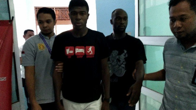 Two Ghanaian footballers arrested in Indonesia over work permit