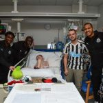 PHOTOS: Christian Atsu and Newcastle United stars visit local hospitals before Christmas