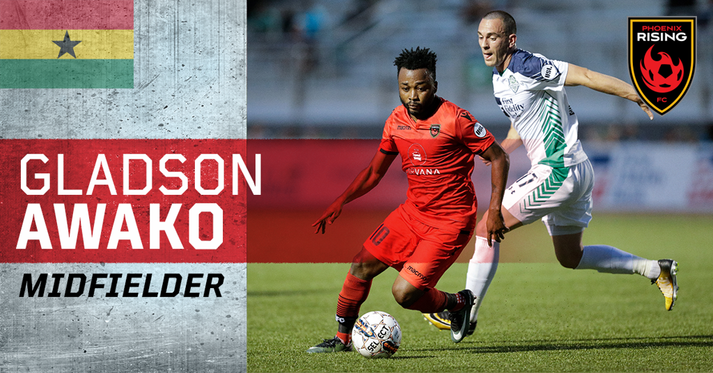 Phoenix Rising retain Ghana midfielder Gladson Awako for 2019 season