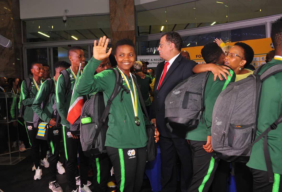 2018 AWCON: South Africa receive heroes' welcome
