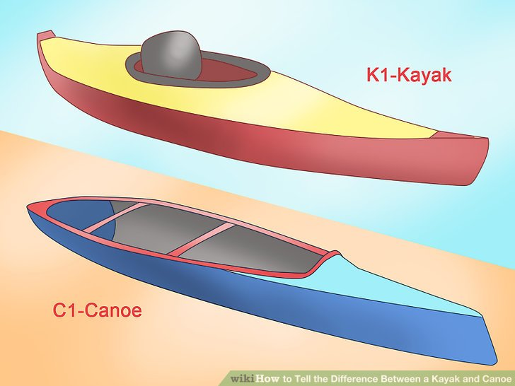 Four main differences between a kayak and a canoe